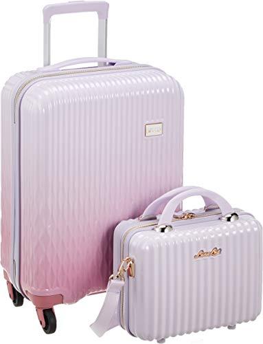 [シフレ] スーツケース ハードジッパー 小型 Sサイズ 1年保証付き LUN2116-48 機内持ち込み可 保証付 32L 48 cm 2.8kg WHPK/PK