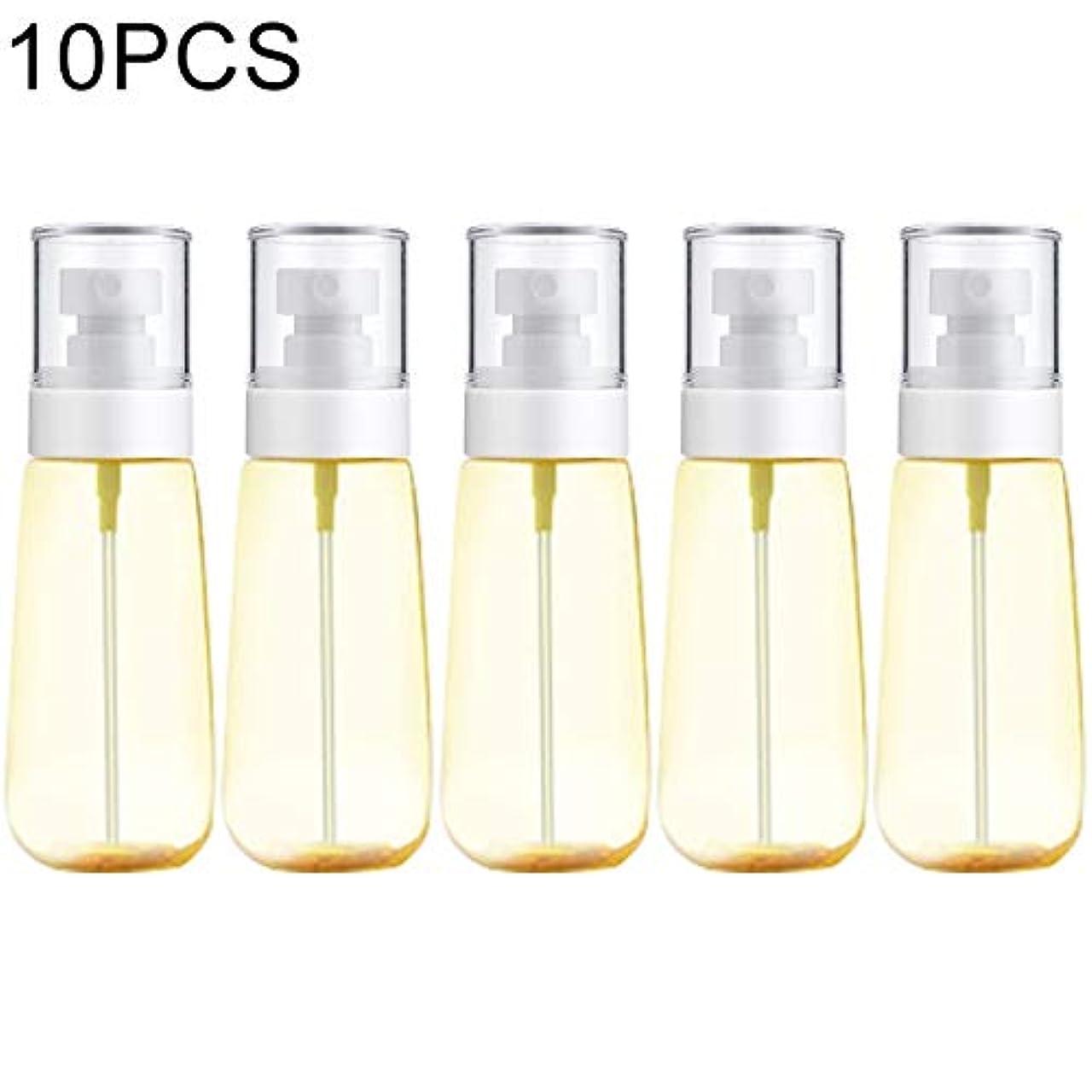 資格ハグ小さいJIANGNIJP化粧品ボトル 10 PCSポータブル詰め替えプラスチックファインミスト香水スプレーボトル透明な空スプレースプレーボトル、100ml (色 : 黄)
