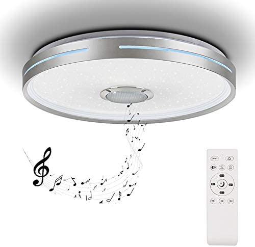 Horevo 36W Led Music Ceiling Light 2120LM with Bluetooth Speaker and Remote Control Color Change product image
