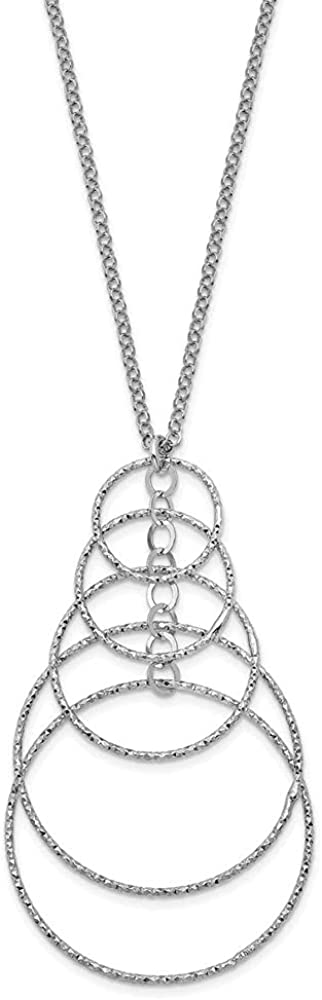 Diamond2Deal Leslie's Sterling Silver Necklace Rhodium Ranking TOP20 Fancy for Lowest price challenge