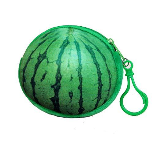 Sevenfly Portable Frau Kinder Cartoon Obst Geldbörse Brieftasche Fall Tasche Schlüsselanhänger Geldbeutel, Wassermelone