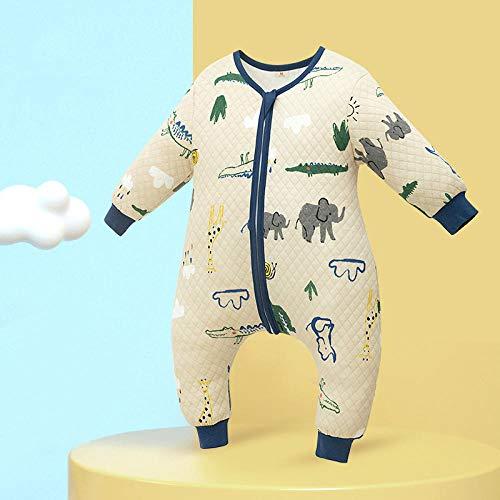 B/H Saco de Dormir Bebe 4 Estaciones,Saco de Dormir para bebé con piernas Abiertas,edredón de algodón Anti-Retroceso para niños-B_90,Saco Dormir Bebe Algodón Suave