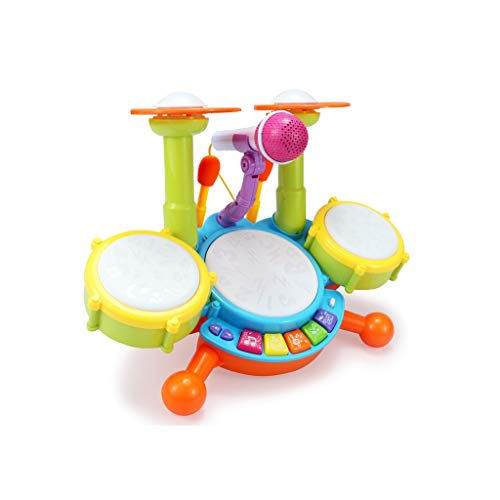 X-CAT Kindertrommeln Jazz Drum Blows Musikinstrumente Dynamic Cartoon Toy Drums Mit Mikrofon (größe : M)