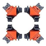 Gxbld-yy 4 Herramienta multifunción Localizador de piezas de bricolaje Clavado accesorio de posicionamiento de la esquina de la abrazadera de la carpintería que atornilla Assist Taladro ABS retenedor