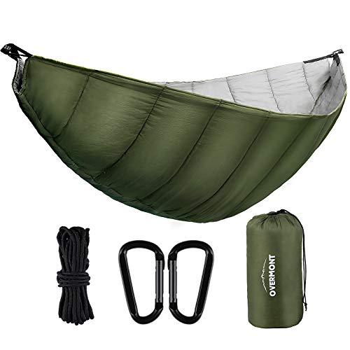 Overmont Hängematte Underquilt TÜV-Zertifiziert Camping Hängematten Outdoor Isomatten Underblanket Winterschlafsack Ultraleicht