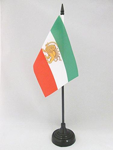 AZ FLAG TISCHFLAGGE Iran ALT EHEMALIGE PERSIEN 15x10cm - IRANISCHE TISCHFAHNE 10 x 15 cm - flaggen