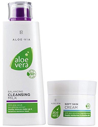 LR ALOE VIA Aloe Vera Gesichtspflege-Set (200 ml Reinigungsmilch & 100 ml Hautcreme)