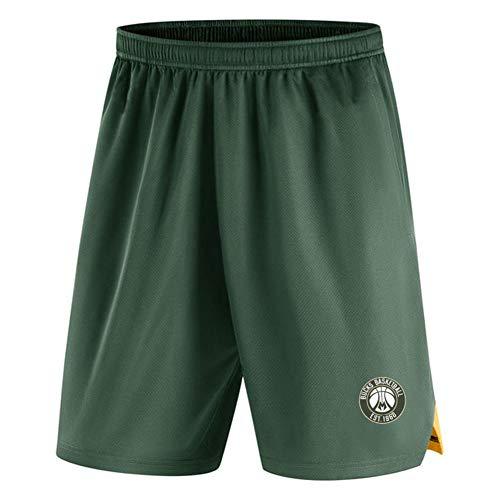 LUOP Dollar Basketball Shorts Männer - schnell trocknende leichte Sportshorts Fitness Outdoor Active Training Shorts (mit Taschen) M L XL grünes Geschenk-XXL