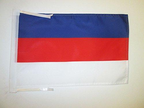 AZ FLAG Flagge SORBEN 45x30cm mit Kordel - PANSLAWISCHEN Fahne 30 x 45 cm - flaggen Top Qualität