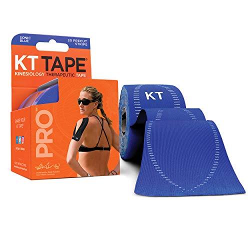 KT Tape PRO Pre-Cut 20Striscia Sintetico Sonic Blu