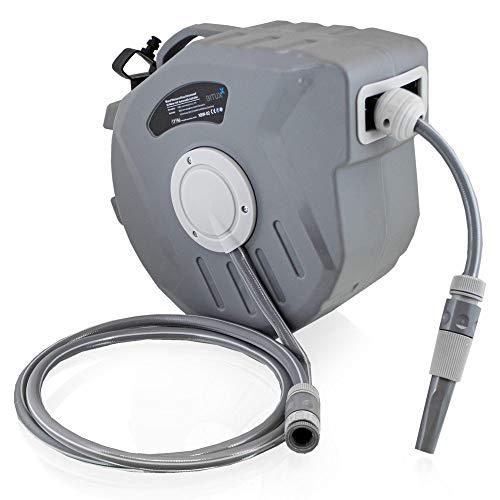 BITUXX Wand Wasser Schlauchtrommel Schlauchaufroller Wasserschlauchaufroller Schlauchbox Automatik (20 m)