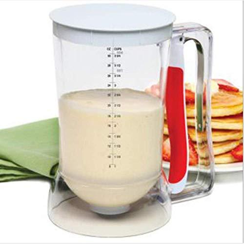 Apchy Home Pancake & Cupcake Batter Dispenser Tool met maatlabel geschikt voor pannenkoeken cake wafels muffin mix pizza cake