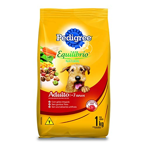 Ração Pedigree Equilíbrio Natural para Cães Adultos Sênior 7+ Anos 1 kg