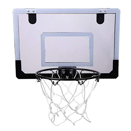 Unibell Tablero basquetbol, Mini Cubierta de Baloncesto del Tablero Trasero del aro Kit Sistema de Puerta montado en la Pared de los niños Conjunto de Juguete