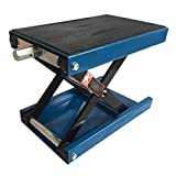 "Mandycng Heavy Duty 1100LB 9"" Wide Deck Motorcycle Center Scissor Lifter Jack Hoist Stand, Great for Bikes ATV UTV Dirt Bike Snowmobile, Blue Color"