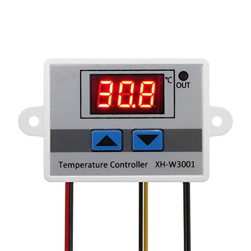 ICQUANZX Modulo termostato Digitale LED 220, Interruttore termostato XH-W3001 con sonda Impermeabile, termostato di Raffreddamento Riscaldamento programmabile