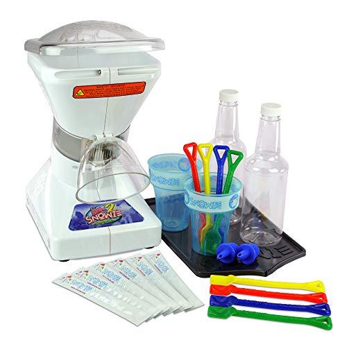 Little Snowie 2 Snow Cone Machine - Premium Shaved Ice Maker, With Powder Sticks Syrup Mix
