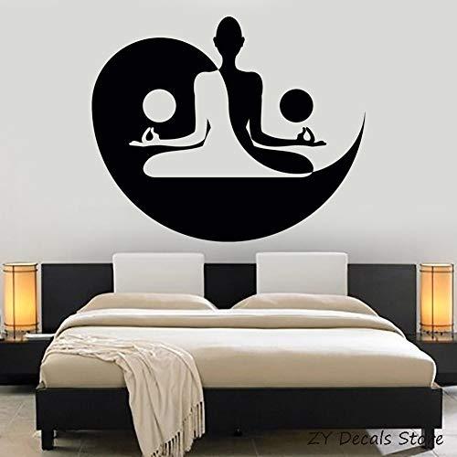 Yin Yang arte calcomanía Yoga Buda Zen meditación dormitorio Yoga estudio decoración pared pegatina Mural sala de estar cartel extraíble