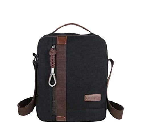 Small Vintage Canvas Crossbody Bag Multi Pocket Travel Messenger Shoulder Bag Mini Purse