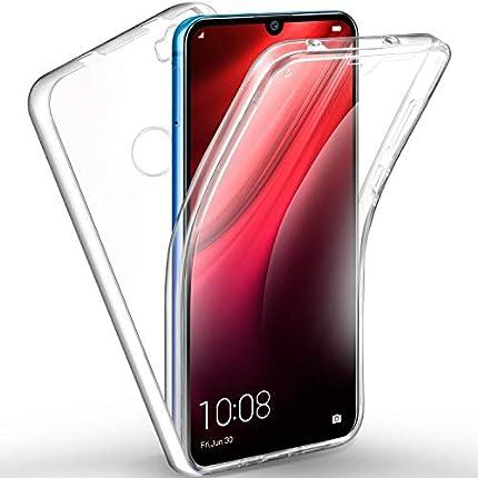 AROYI Funda Xiaomi Redmi Note 8T, Ultra Slim Doble Cara Carcasa Protector Transparente TPU Silicona + PC Dura Resistente Anti-Arañazos Protectora Case Cover para Xiaomi Redmi Note 8T
