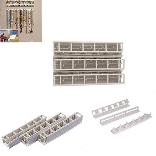 Ganci adesivi pasta da appendere alla parete Storage espositore per gioielli 9in 1