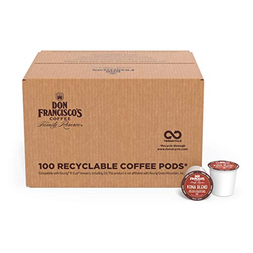 Don Francisco's Kona Blend (100 Count) Recyclable Single-Serve Coffee Pods, Compatible with Keurig K-Cup Brewers
