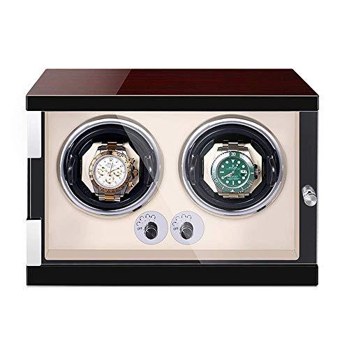 ZCYXQR Caja enrolladora de Reloj automática, Pintura de Piano de Madera, Almohadas de Reloj Ajustables Exteriores, Motor silencioso para Hombre y Mujer, Relojes, enrollador de Reloj