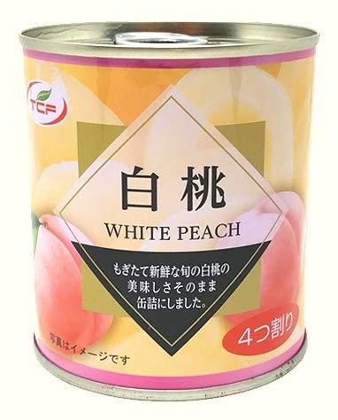 白桃缶詰 (312g×24缶) 5号 1ケース ピーチ フルーツ プルトップ缶 缶詰め 業務用 まとめ買い