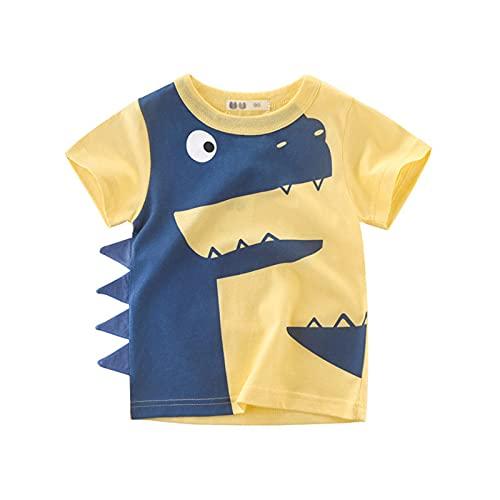 Boys Camiseta De Manga Corta,Algodon Camisetas para Niños 1 A 10 Años (A,90cm-1-2 Years)
