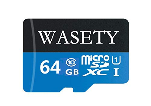 WASETY 64GB Micro SD SDXC High Speed Class 10 Memory Card with SD Adapter