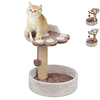 KORIMEFA Cat Tree Cat Tower Kitten Small Cats Playground Furniture with Scratching Post and Plush Cover for Playing Relax and Sleep