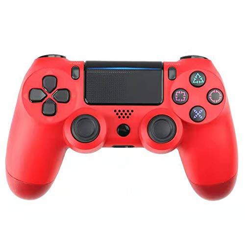 ERGGQAQ Gamepad Inalámbrico Bluetooth, Controlador PS4, con Barra luz LED y Panel Táctil, para Playstation 4 Pro/PC/Teléfono Celular/Tableta/Switch/Joystick Juego DualShock 4,Rojo