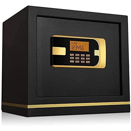 NZDY Digital Safe-Electrónico Caja Seguro de Casa Caja de Seguridad de Acero Grueso a Prueba de Fuego Toda la Caja Fuerte Antirrobo de Acero con Espacio de Alenamiento, para Joyas, Documentos, Diner