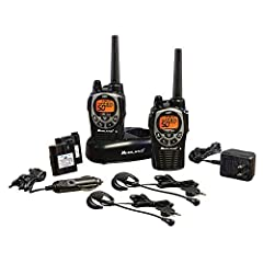 2-WAY RADIOS - These walkie-talkies feature 50 GMRS (General Mobile Radio Service) channels, along with channel scan to check for activity. The JIS4 Waterproof Protection prevents splashing water from having any harmful effect on it (splash resistant...