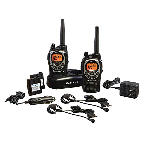 Midland - GXT1000VP4, 50 Channel GMRS Two-Way Radio - Up to 36 Mile Range Walkie Talkie, 142 Privacy...