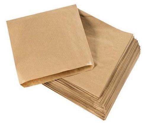 200bolsas para alimentos de papel kraft, 20 x 20 cm, color marrón, 8.5 x 8.5 inch