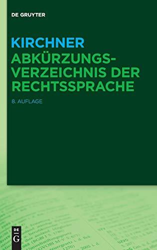 Kirchner - Abkürzungsverzeichnis der Rechtssprache