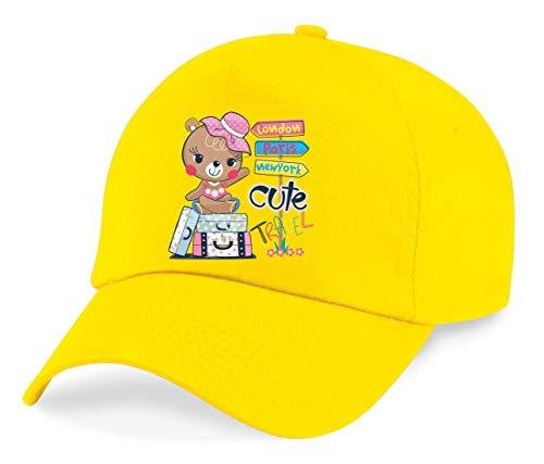 Gorra – Oso de peluche Cartoon Viaje Maleta – Gorra de béisbol para hombre – Mujer y Niños