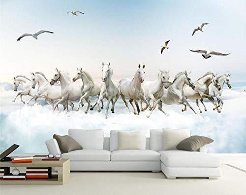 Muurschildering achtergrond eigen behang woonkamer slaapkamer fotobehang Super Hd paard tv muur achtergrond fotobehang 3D wallpaper 400 x 280 cm.