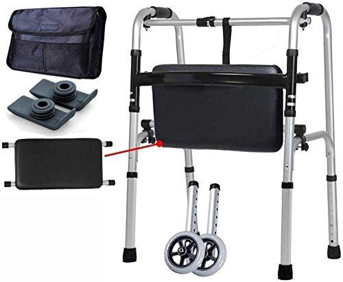 ZTBXQ Walking Frame Leichte Gesundheit Körperpflege Aluminiummit SitzStandard Walkers Walking Frames Medizinische Instrumente Vierbeiniger älterer Faltläufer