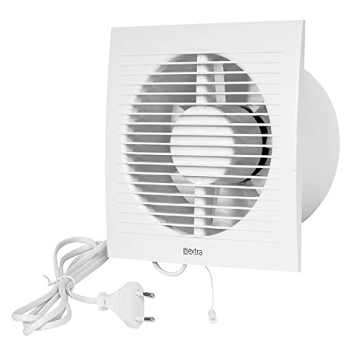 Wandventilator 150 mm ventilator afvoerluchtkabel schakelaar ventilator keuken wc badkamer