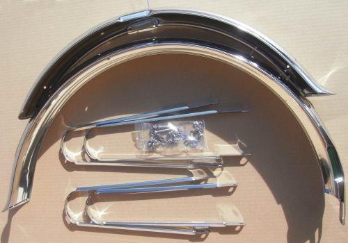Schutzbleche Classic Ducktail 26 Zoll 80 mm verchromt