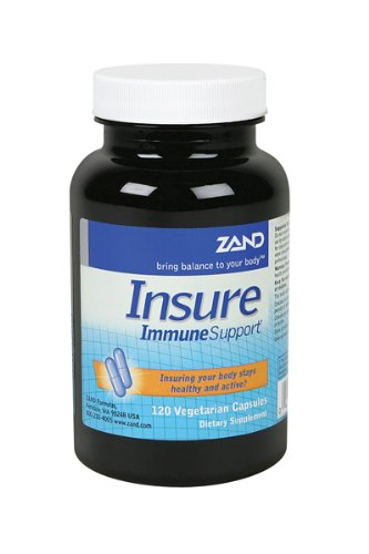 Zand Insure Herbal Immune Support | Vitamin C, Zinc, Echinacea, Goldenseal & Herbal Blend w/Elderberry, Ginger & More | Lab Verified | 120 Veg Caps