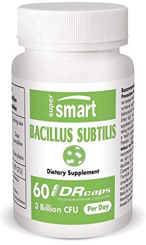 Supersmart - Bacillus Subtilis 3 Billion CFU Per Day - Probiotic Strain - Improve Natural Defences & Help with External Infection | Non-GMO & Gluten Free - 60 DR Capsules