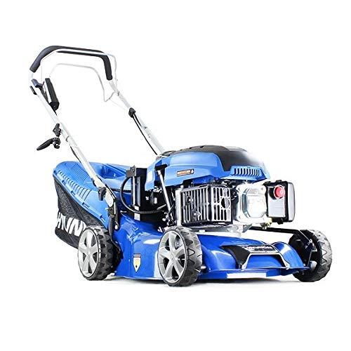 Hyundai HYM430SPE Self Propelled Petrol Lawn Mower Electric Start 17 inch 420mm Cutting Width Petrol Lawn Mower Including 600ml Oil and Rain cover