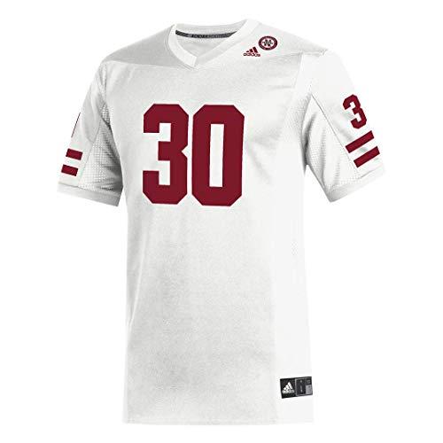 adidas NCAA Nebraska Cornhuskers Herren NCAA Replica Jersey, weiß #30, Größe L