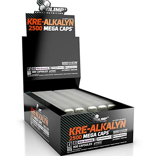 KRE-ALKALYN 2500 | Premium Buffered Creatine Alkaline Monohydrate - Anabolic Pills for Muscle Mass Growth | Blisters - No Box (120 Capsules)