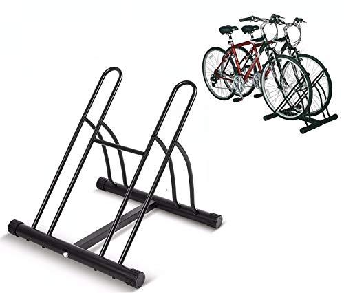 INION MHBB5012 - Fietshouder voor 2 fietsen Fietsstandaard vrijstaand, montagestandaard, reparatiestandaard, fietsparkeerplaats, standaard, fiets, fiets, houder vloerstandaard/chiavi