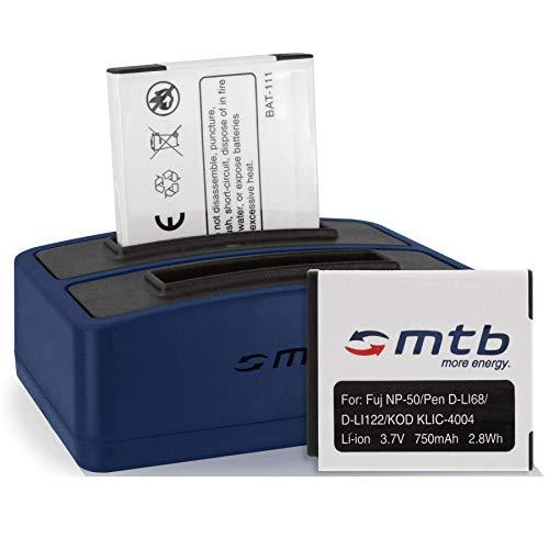 2 Baterías + Cargador Doble (USB) NP-50 para Fuji F200EXR, F300EXR, F300EXR, XP. / Ricoh WG-M2 / Kodak Easyshare M…, V… / Pentax. - v. Lista!