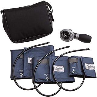 American Diagnostic 731-N Multikuf 731 3-Cuff EMT Kit con 804 Portable Palm Aneroid Sphygmomanometer, Blood Pressure Cuffs (19-50 cm), Negro Nylon Zip Storage Case, Navy